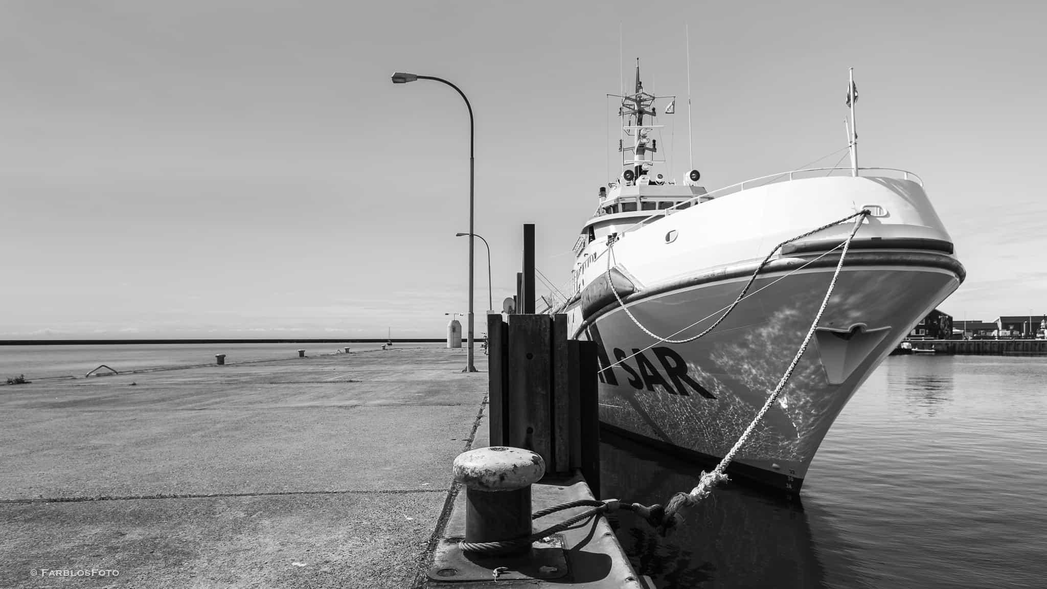 Seenotrettungskreuzer Hermann Marwede auf Helgoland
