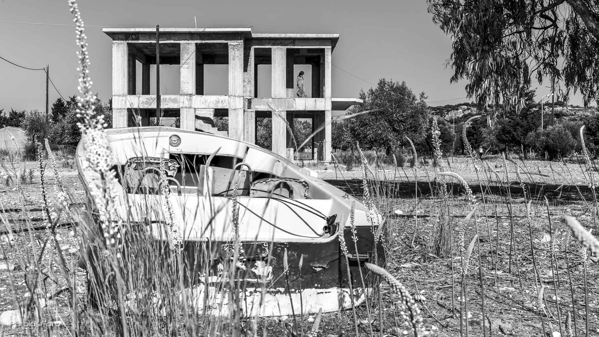 Hausrohbau auf Rhodos