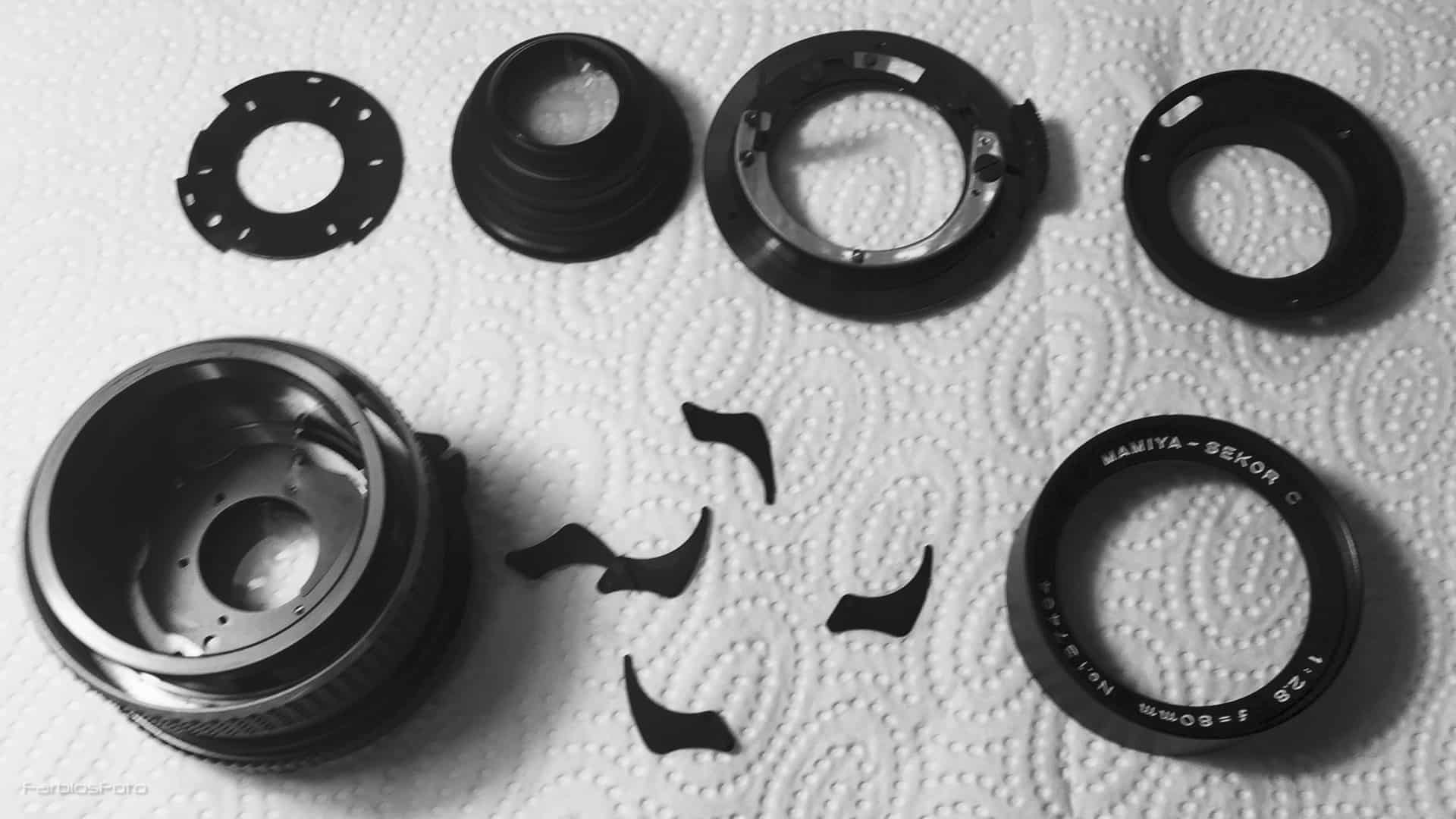 Einzelteile Mamiya Sektor C 80mm f2.8