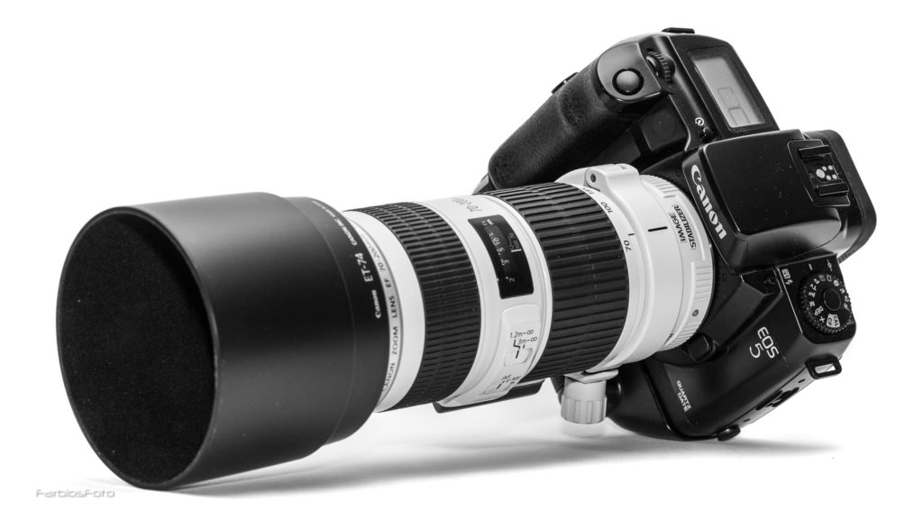 Canon EOS 5 mit EF 70-200mm f/4L IS II USM