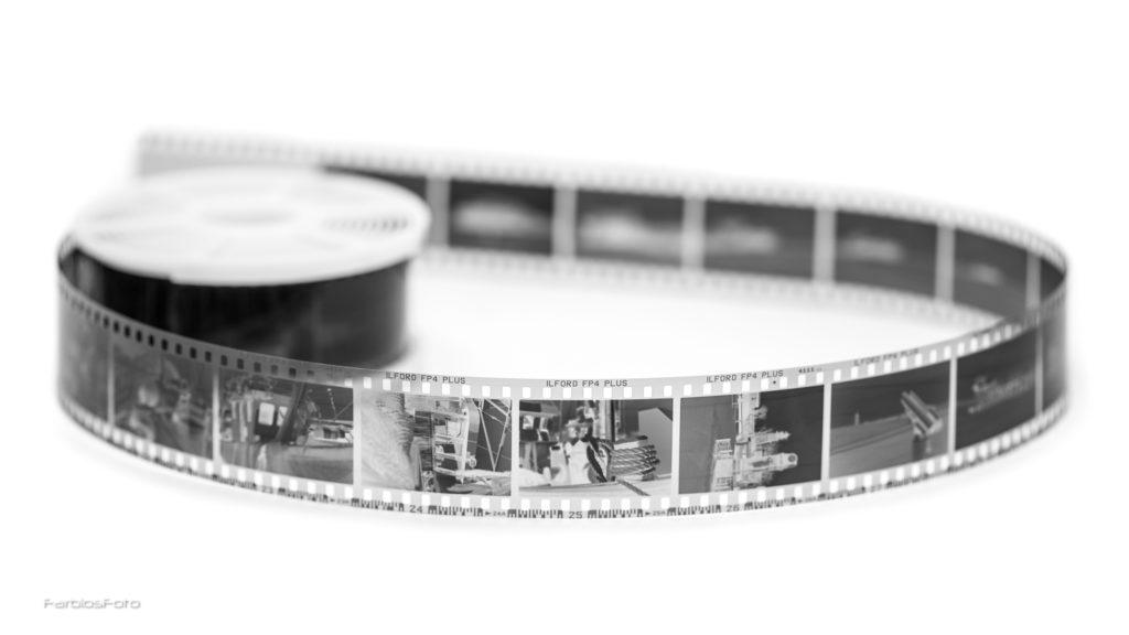 Der entwickelte 35mm Ilford FP4 Plus