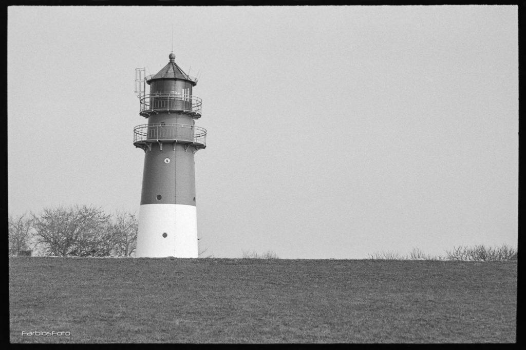 Büsum Leuchtturm - Aufgenommen mit Canon EOS5   EF 50mm f/1.8 STM   Ilford FP4